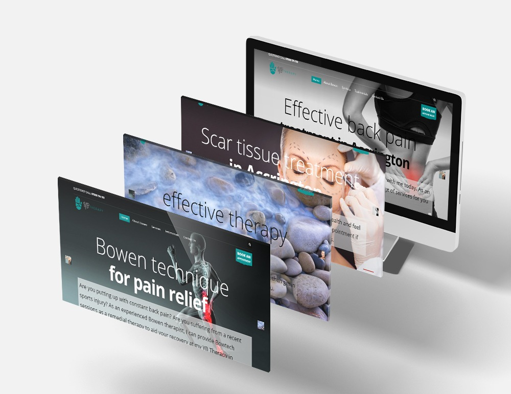 pain relief & therapy Responsive Web Design
